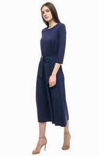 Длинное трикотажное платье с рукавами три четверти Stefanel