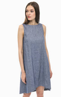 Платье средней длины с высоким содержанием льна Stefanel
