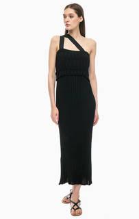 Длинное трикотажное платье сарафан Stefanel