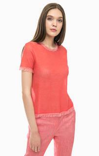 Однотонная футболка с короткими рукавами Stefanel