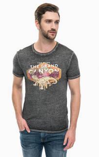 Серая футболка с принтом Mavi
