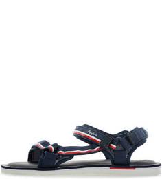 Текстильные сандалии синего цвета Pepe Jeans