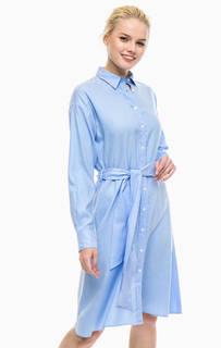 Платье-рубашка с расклешенной юбкой Gant