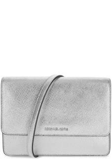Маленькая кожаная сумка с откидным клапаном Michael Michael Kors