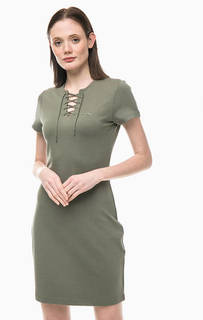 Короткое платье со шнуровкой на груди Lacoste