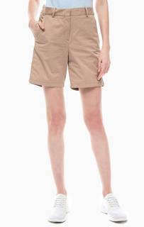 Хлопковые шорты бежевого цвета Lacoste