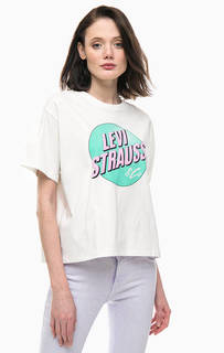 Хлопковая футболка оверсайз с принтом Levis®