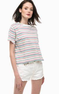 Хлопковая футболка в полоску с карманом Levis®