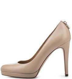 Кожаные туфли на высоком каблуке Michael Michael Kors