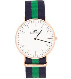 Часы со съемным текстильным браслетом Daniel Wellington
