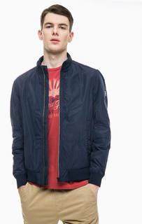 Синяя куртка с высоким воротом Tom Tailor