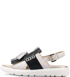 Кожаные сандалии с кисточками Geox