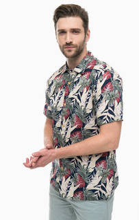 Разноцветная приталенная рубашка из хлопка Dockers