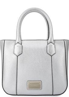 Серебристая сумка с короткими ручками Emporio Armani