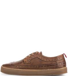 Кожаные ботинки с брогированием Nobrand