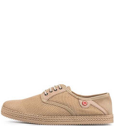 Текстильные ботинки бежевого цвета Nobrand