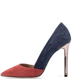 Замшевые туфли на каблуке Pollini