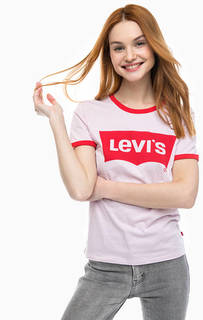 Розовая футболка из хлопка Perfect Ringer Tee Levis®