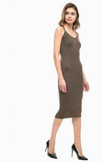 Коричневое платье на бретелях Marciano Guess