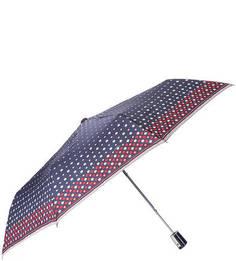 Полуавтоматический зонт в горошек Doppler