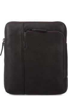 Кожаная сумка через плечо с карманами Gianni Conti