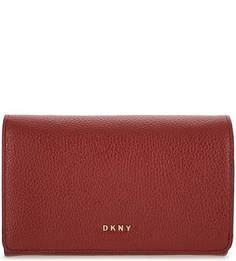 Кожаный кошелек с откидным клапаном Dkny