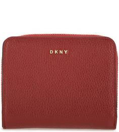 Красный кошелек из зерненой кожи Dkny