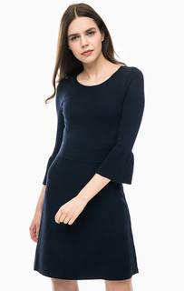 Трикотажное платье с расклешенными рукавами Armani Exchange