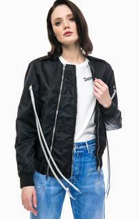 Легкая куртка бомбер черного цвета Replay