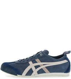 Синие кроссовки из нубука Onitsuka Tiger