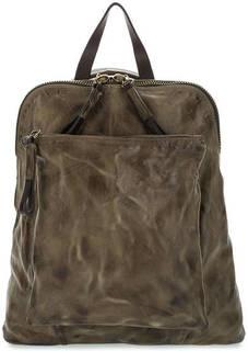 Кожаная сумка-рюкзак с карманами A.S.98
