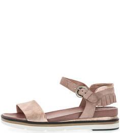 Кожаные сандалии с замшевыми вставками Mjus