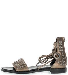 Кожаные сандалии с металлической отделкой Mjus