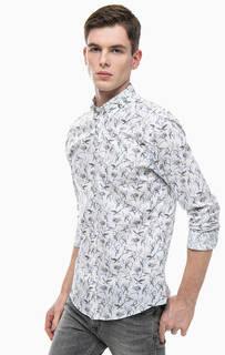 Приталенная рубашка из хлопка Jack & Jones
