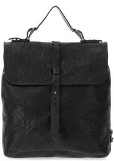 Рюкзак из фактурной кожи с откидным клапаном A.S.98