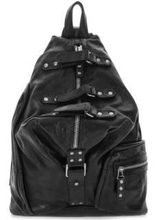 Черный рюкзак из натуральной кожи A.S.98