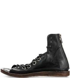 Кожаные сандалии черного цвета A.S.98