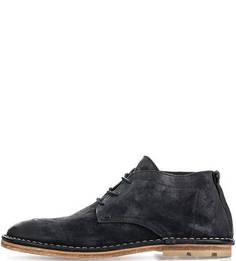 Замшевые ботинки синего цвета A.S.98