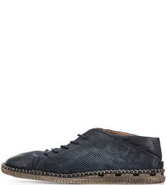 Замшевые туфли синего цвета A.S.98