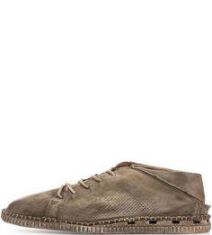 Замшевые туфли цвета хаки A.S.98