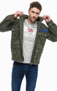 Легкая куртка цвета хаки Diesel