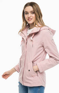 Приталенная куртка розового цвета Tom Tailor