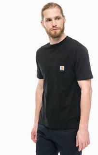 Черная футболка с нагрудным карманом Carhartt WIP