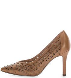 Кожаные туфли с перфорацией Tamaris