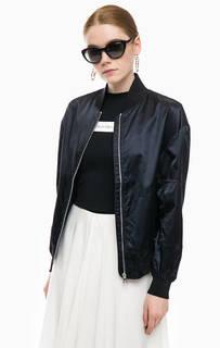 Черная куртка-бомбер с карманами Calvin Klein Jeans