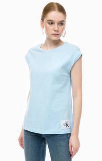 Однотонная футболка с круглым вырезом Calvin Klein Jeans