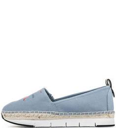 Текстильные слипоны на платформе Calvin Klein Jeans