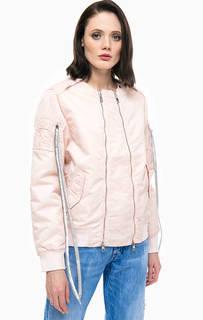 Легкая куртка бомбер розового цвета Replay