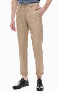 Бежевые брюки чиносы из хлопка Fred Perry