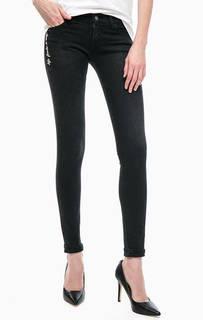 Зауженные черные джинсы Replay